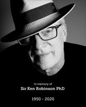 In memorial photo of Sir Ken Robinson