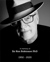 In memorial photo of Sir Ken Robinson